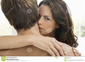 Woman Kissing On Man's Neck Stock Photos - Image: 33896613