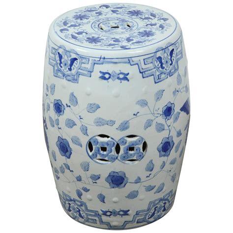 ceramic garden stools white and blue ceramic garden stool for at
