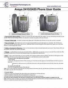Avaya 2410  2420 Phone User Guide