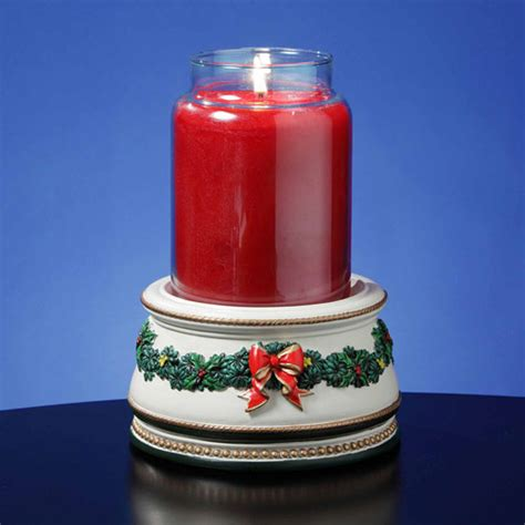 jar christmas candle holder holiday treasures musical jar candle holder music box walmart com