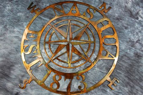 """30 Wall Decor Ideas For Your Home: Nautical COMPASS ROSE 30""""WALL ART DECOR Customized"""