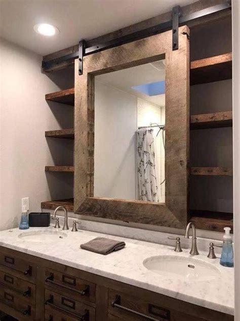 Bathroom Door Mirrors by Barn Door Bathroom Mirror And Vanity Bathroom In 2019