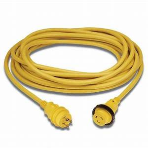 Marinco Shore Power Cord Plus 30a Cord Yellow