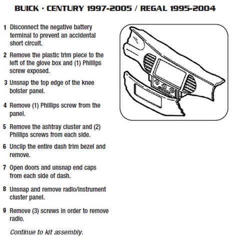buick regalinstallation instructions