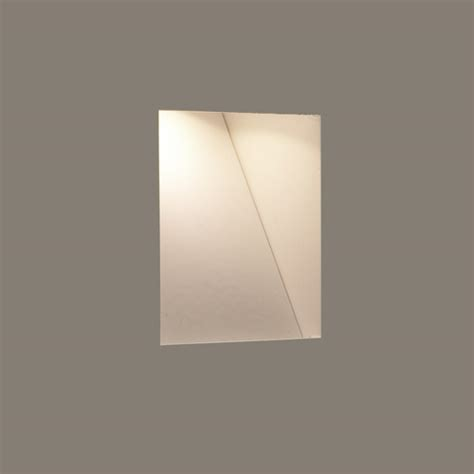borgo trimless 65 plastered in led wall light 3w warm