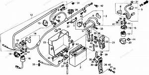 Honda Motorcycle 1989 Oem Parts Diagram For Battery