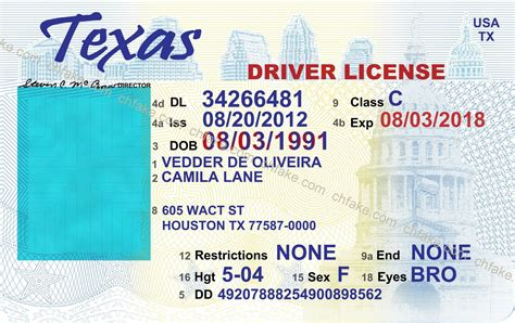 New Texas Drivers License Template Examsanswercom