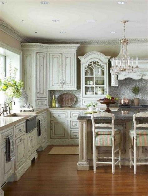 shabby chic painted kitchen cabinets 32 sweet shabby chic kitchen decor ideas to try shelterness 7911