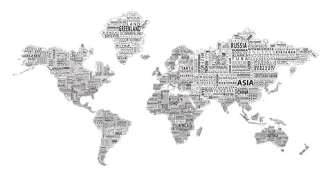world map black and white 1 world text map wall mural black on white