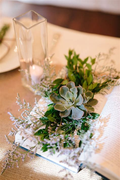 table centrepieces ideas clever diy book succulent wedding centerpieces mon