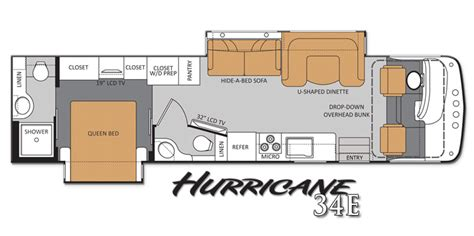 floor plans for one homes thor motor coach s hurricane cranks up the excitement