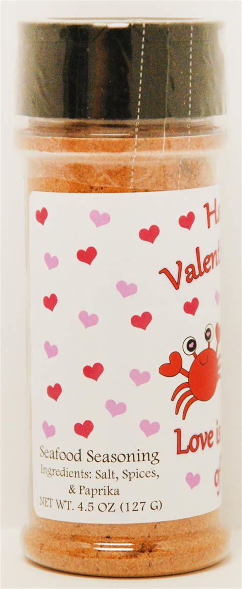 Happy Valentines Day J.O. #1 Seafood Seasoning 4.5oz Container
