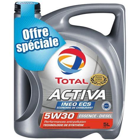 auto öl 5w30 huile moteur total activa ineo ecs 5w30 essence diesel 5l feu vert