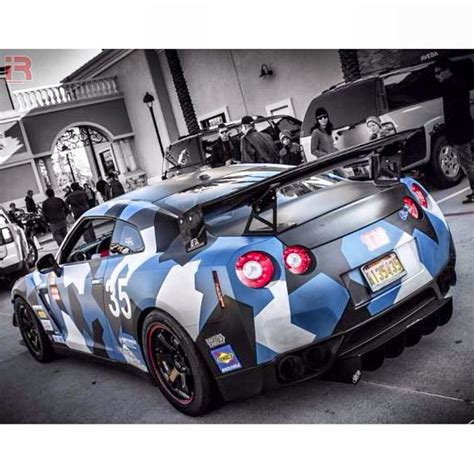 cool wrapped cars cool dipped camo nissan gtr cool car wraps pinterest