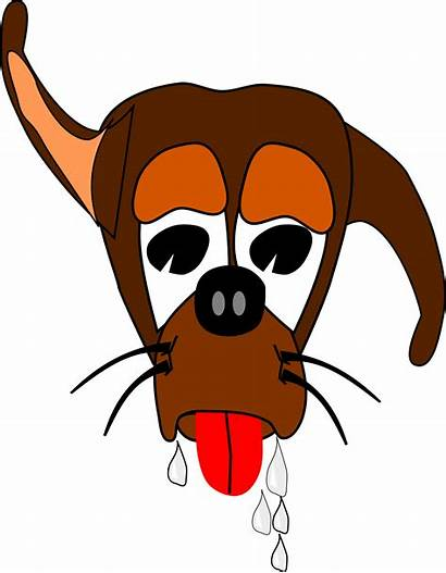 Dog Clipart Salivating Thirsty Ears Svg Clip