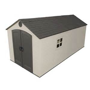 lifetime products 8 ft x 15 ft resin storage shed lowe s