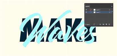Overlapping Text Illustrator Layers Layout Create Layer
