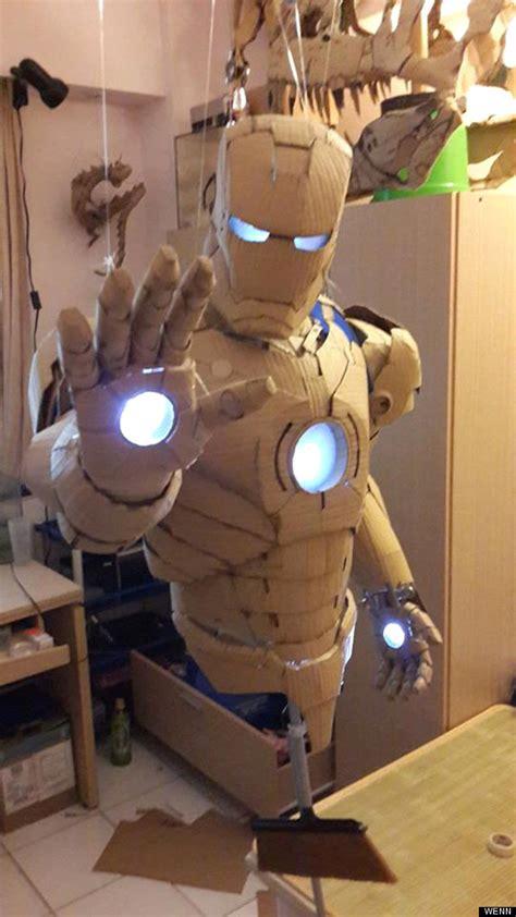 meet  taiwanese tony stark complete  cardboard iron man armour