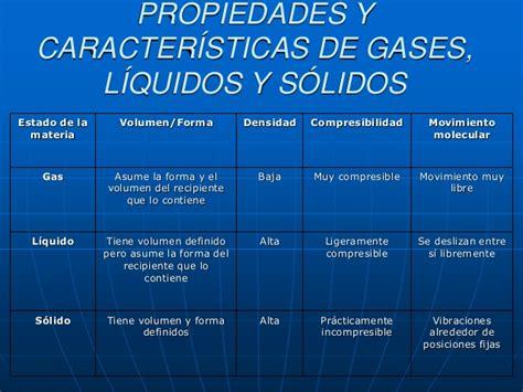 cuadros comparativos liquidos solidos  gases cuadros