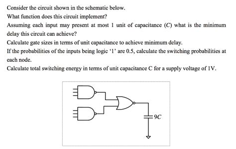 Solved Consider The Circuit Shown Schematic Below