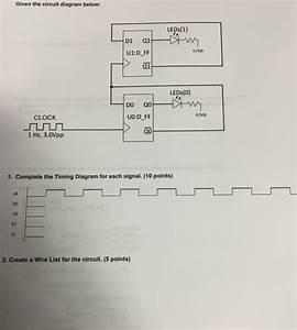 Solved  Given The Circuit Diagram Below  Leds 1  D1 Gnd U1