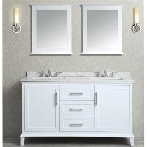 nantucket 60 quot double sink bathroom vanity set alpine