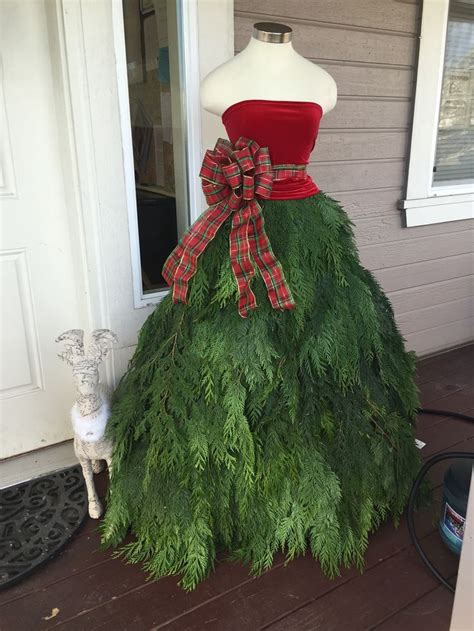 mannequin  christmas tree dress holiday mannequin