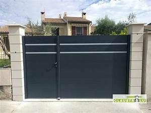Portail Coulissant 2 Vantaux : portail battant pilier beton fabricant de cl ture pare ~ Edinachiropracticcenter.com Idées de Décoration