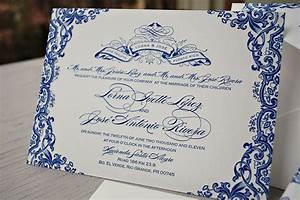 blue letterpress puerto rico wedding invitations text With destination wedding invitations puerto rico