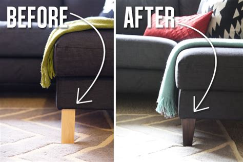 Karlstad Sofa New Legs by Newcouchlegs Before After