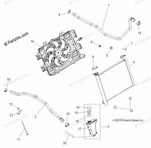 Polaris Atv 2012 Oem Parts Diagram For Engine  Cooling