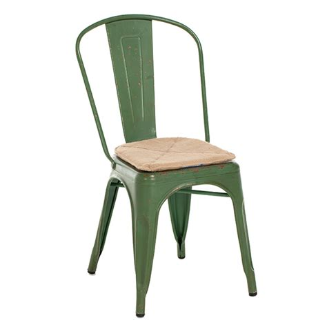 gustave metal dining chair vintage green dining chairs
