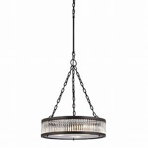 Elk linden oil rubbed bronze drum pendant lighting
