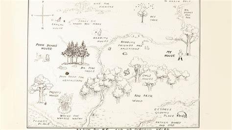 Landkort Over Hundredemeterskoven Fra 'peter Plys' Solgt