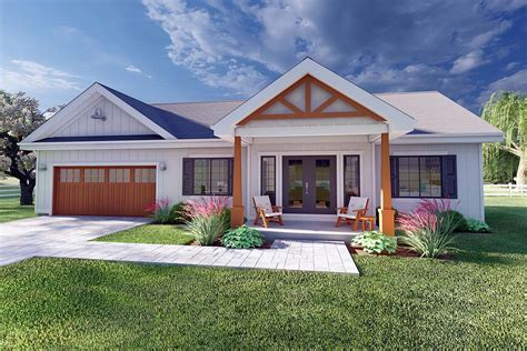 House Plan 80509 Ranch Style with 928 Sq Ft 2 Bed 2 Bath