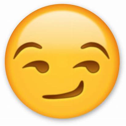 Emoji Emojis Clipart Iphone Winking Emoticon Smirk