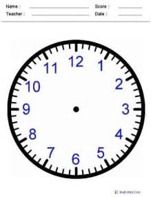 Blank Clock Face Telling Time Worksheets