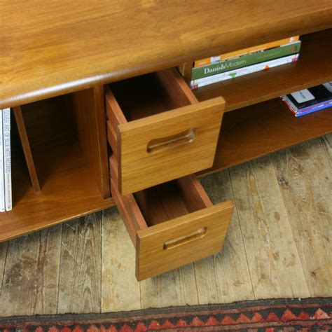 ✅ browse our daily deals for even more savings! Mid Century Teak Vinyl Media Cabinet / Coffee Table #0701b - Mustard Vintage