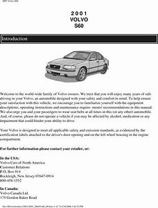 01 Volvo S60 2001 Owners Manual