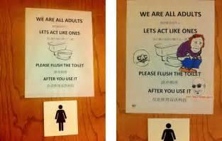 ideas for bathroom floors for small bathrooms humorous bathroom etiquette signs bathroom design 2017