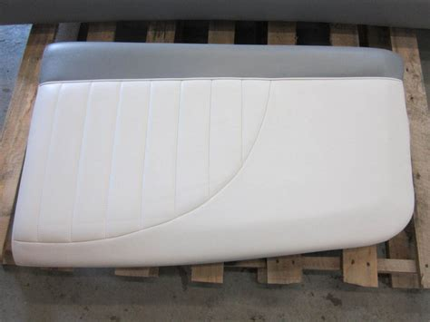 Used Boat Cushions For Sale by Mastercraft Ski Boat Seat Cushion White Grey Ebay