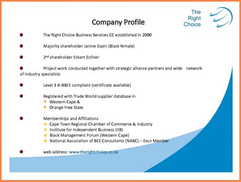 How To Make A Company Profile Template by 8 Engineering Company Profile Sle Company Letterhead