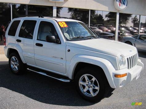 jeep white liberty 2003 stone white jeep liberty limited 4x4 70081519