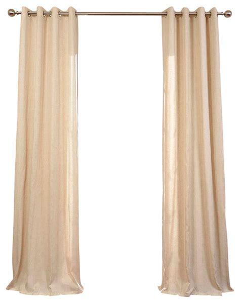 lanai grommet linen blend stripe curtain single