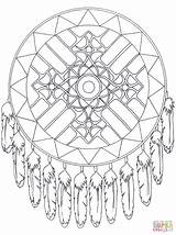 Coloring Pages Dreamcatcher sketch template
