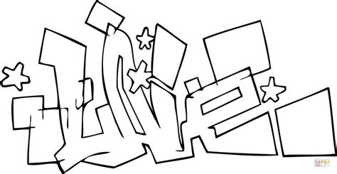 graffiti coloring page  printable coloring pages