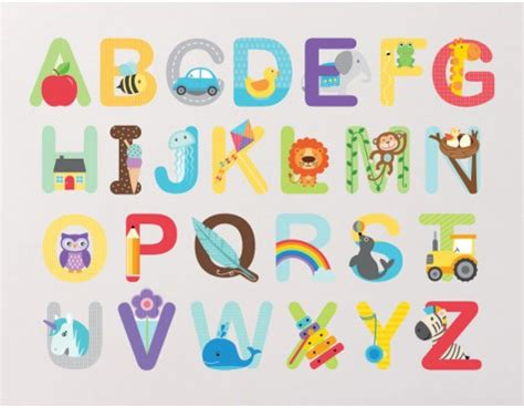 stickers muraux lettres alphabet alphabet wall stickers buy abc wall stickers