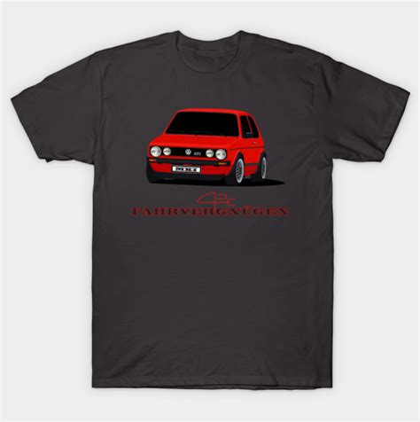 shop vac bags vw golf mk1 gti fahrvergnugen t shirt by automotiveart via