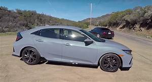 2017 Honda Civic Hatchback With Manual Gets Smoking Tire