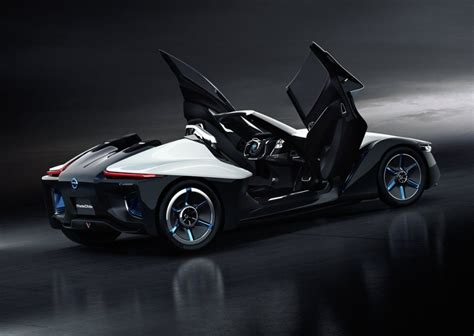 nissan sports car black nissan bladeglider 1 2 concept probably a two seater